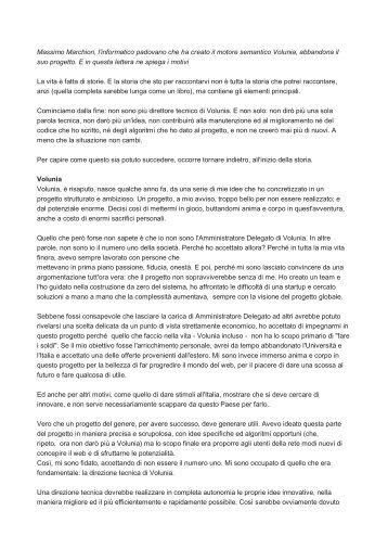 lunga lettera - Corriere delle comunicazioni