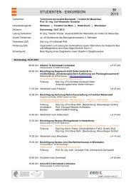 Programm Exkursion 2013 - Institut für Massivbau - Technische ...