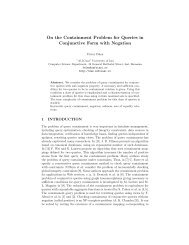 On the Containment Problem for Queries in ... - Profs.info.uaic.ro