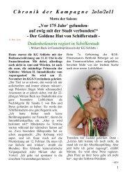 Chronik 2010-2011 - KG Schlotte