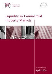 Liquidity in Commercial Property Markets - Investment Property Forum