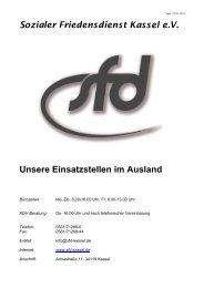 Unsere Einsatzstellen im Ausland - SFD Kassel