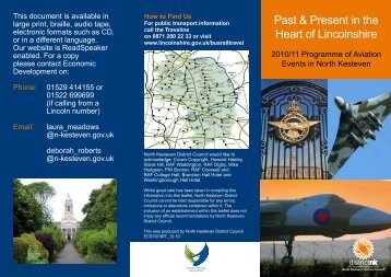 Past & Present in the Heart of Lincolnshire - North Kesteven District ...