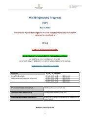 Vidékfejlesztési Program - Magyar Nemzeti Vidéki Hálózat