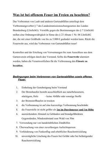 Verbrennen im Freien - KGV-Herrenhorst1988e.V.