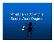 What can I do with a Social Work Degree