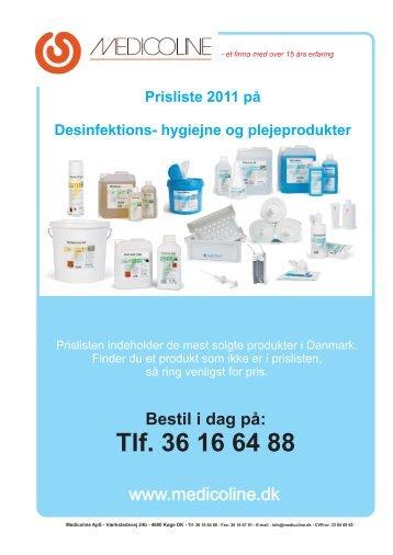 Prisliste 2011 på Desinfektions  - Medicoline