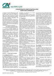 Convention de compte - Crédit Agricole Sud Rhône Alpes