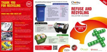 Important information about refuse and recycling collections