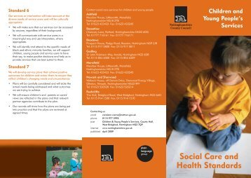 Children and Young People's Services Social Care and Health ...