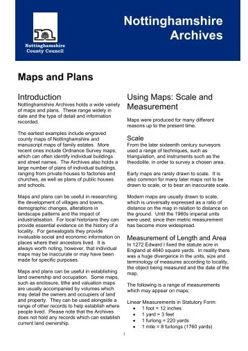 Maps and Plans [PDF 308KB] - Nottinghamshire County Council