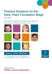 Practice Guidance for the Early Years Foundation Stage