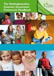 Nottinghamshire Common Assessment Framework Handbook