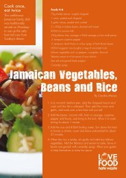 Love Food Hate Waste - Jamaican vegetables, beans and rice ...