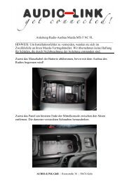 Anleitung Radio-Ausbau Mazda MX-5 NC FL HINWEIS: Um Installatio