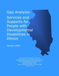 Gap Analysis: Services and Supports for People with ... - LifeMyWay