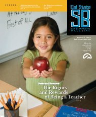 The Rigors and Rewards of Being a Teacher - CSUSB Magazine ...