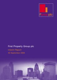 here - First Property Group plc