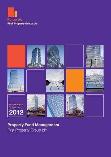 September 2012 Interim Report - First Property Group plc