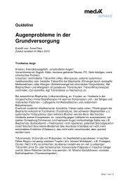 Guideline Augenprobleme in der Grundversorgung - mediX schweiz