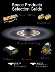Download our Space Databook - Teledyne Relays
