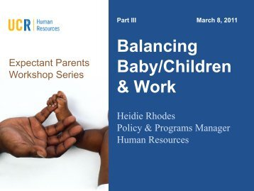 Balancing Baby/Children and Work - Human Resources