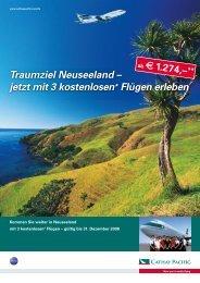 Traumziel Neuseeland – jetzt mit 3 kostenlosen* Flügen erleben
