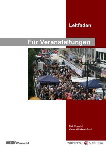 Leitfaden für Veranstaltungen - Wuppertal Marketing GmbH