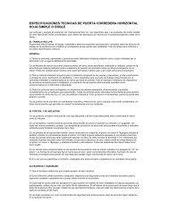 especificaciones tecnicas de puerta corredera - Tecnologistica