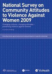 National Survey on Community Attitudes to Violence ... - VicHealth