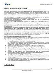 Modul: BERICHTE ADAPT/ZIEL4 1. Menü: Datei - ECG GmbH Berlin