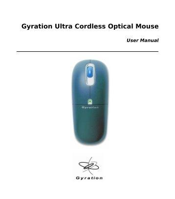 Gyration Ultra Cordless Optical Mouse - Medium