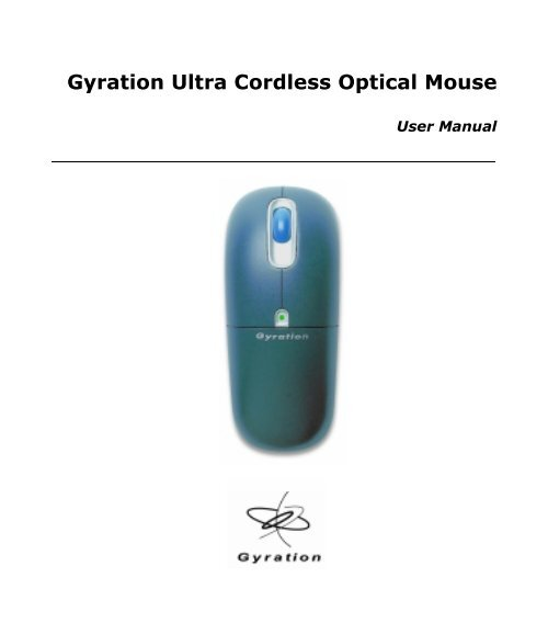 GYRATION ULTRA MOUSE DRIVERS WINDOWS 7