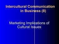 Cross-cultural Communication in International Strategic Business ...