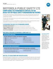 Motorola Standards-Based Public Safety LTE Fact Sheet