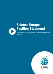 On the Proposed European General Data ... - Science Europe