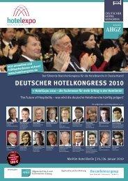 Deutscher hotelkongress 2010 - medienunternehmung