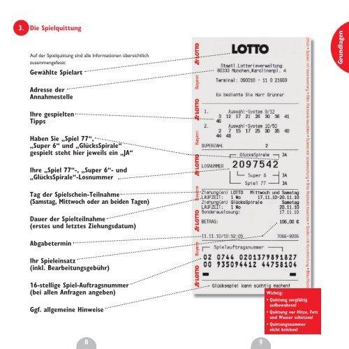 Lotto Auftragsnummer