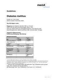 Guidelines Diabetes mellitus - mediX schweiz