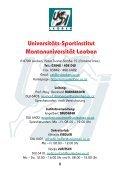 Universitäts-Sportinstitut - USI Leoben - Montanuniversität Leoben - Seite 2