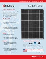 KD 185 P Series - KYOCERA Solar