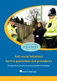 Anti-social behaviour Service guarantees and procedures
