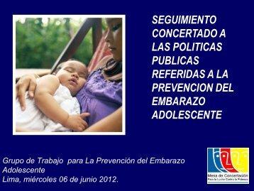 Prevención del Embarazo Adolescente - Mesa de Concertación ...