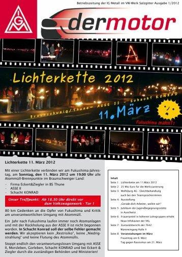 1 Lichterkette 11. März 2012 - IG Metall Salzgitter-Peine