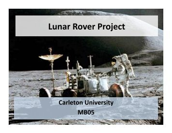 Lunar Rover Project - CuSEDS