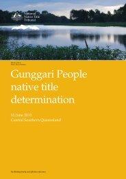 Gunggari People native title determination - National Native Title ...