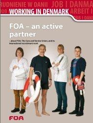Working in Denmark: FOA - an active partner