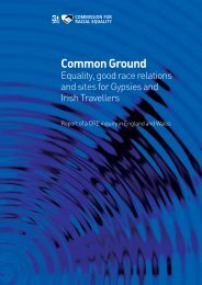Equality, good race relations and site for Gypsies and Irish Travellers