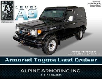 ARMORED TOYOTA LAND CRUISER - Alpine Armoring Inc.