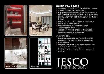 SLEEK PLuS KitS - Jesco Lighting
